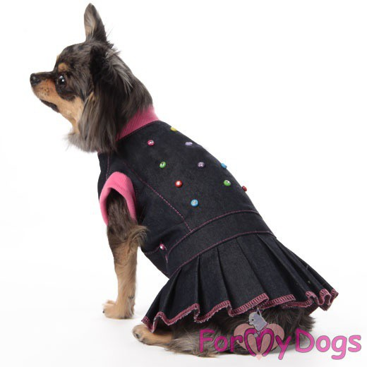 Джинсовое платье для собаки