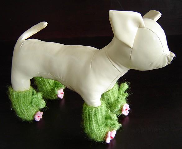 Обувь для собак вязание
